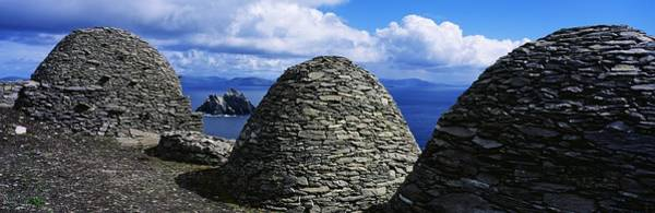 Ns Photograph - Beehive Huts At The Coast, Skellig by The Irish Image Collection