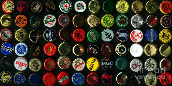 Photograph - Beer Bottle Caps . 2 To 1 Proportion by Wingsdomain Art and Photography