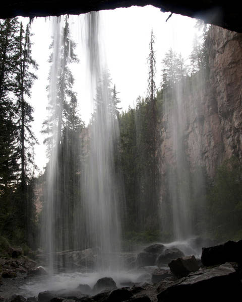Photograph - Behind The Falls2 by Jason Turuc