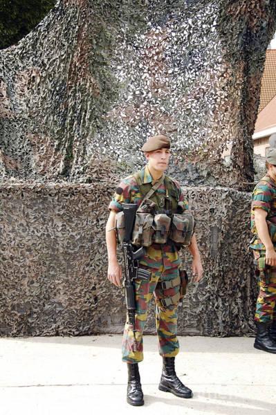 Fnc Photograph - Belgian Soldier On Guard by Luc De Jaeger
