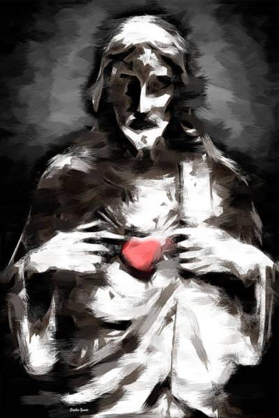 Sacred Heart Digital Art - Believe In Love by Stephen Younts