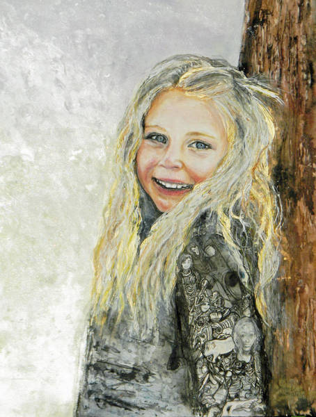 Painting - Bella Commission  Portrait by Anne-D Mejaki - Art About You productions