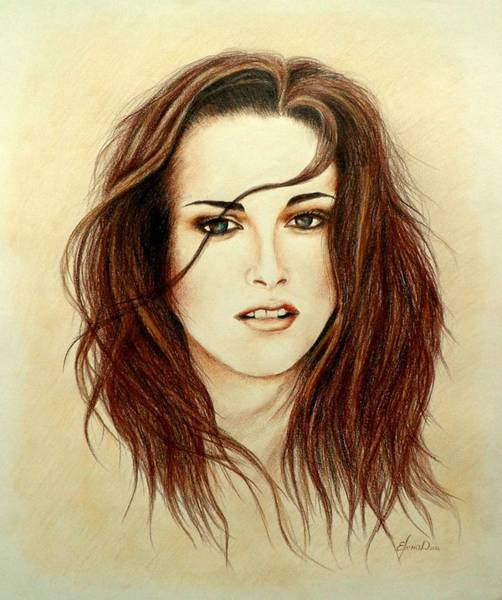 Twilight Drawing - Bella by Yelena Day