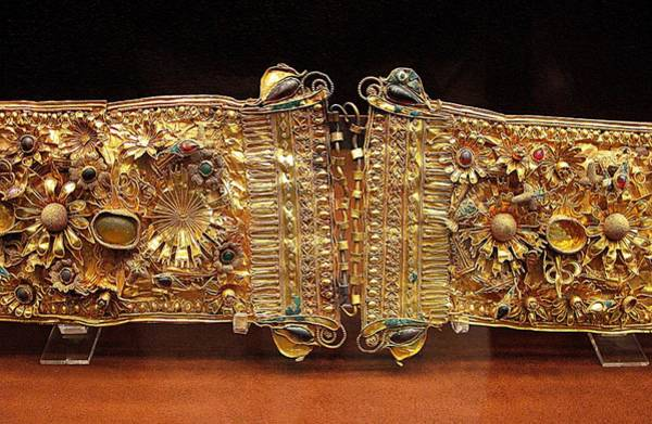 Jewelery Photograph - Belt With Gems by Andonis Katanos