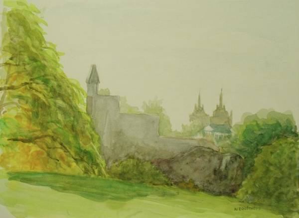 Painting - Belveder Castle Central Park Ny by Nicolas Bouteneff