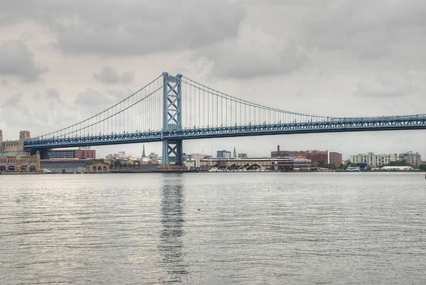 Photograph - Ben Franklin Bridge by Jennifer Ancker