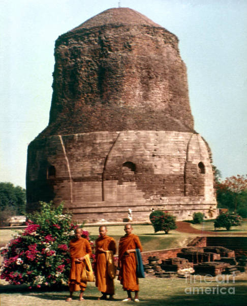 Photograph - Benares, India: Stupa by Granger