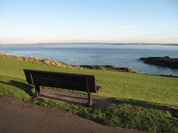 Ives Photograph - Bench In St Ives Cornwall by Thepurpledoor