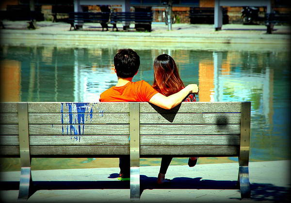 Wall Art - Photograph - Benchlovers by Valentino Visentini