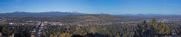 Pilot Photograph - Bend Oregon Panorama by Twenty Two North Photography