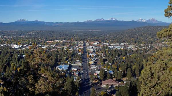 Central Oregon Photograph - Bend Pregon From Pilot Butte by Twenty Two North Photography