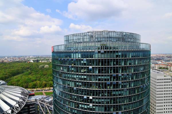Photograph - Berlin Bahn Tower Potsdamer Platz Square by Matthias Hauser