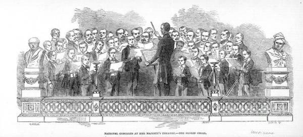 Choral Wall Art - Photograph - Berlin Choir, 1850 by Granger
