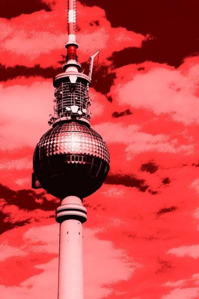 Berlin Television Tower Pop Art Art Print
