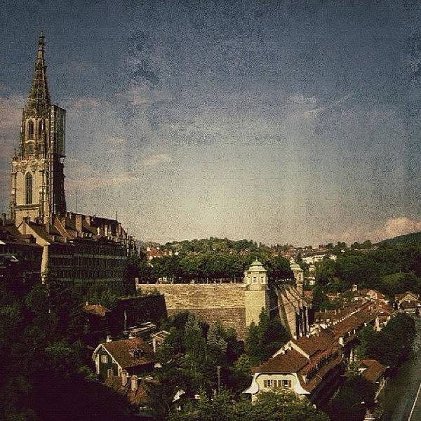 Ancient Photograph - Bern Cathedral - Switzerland by Joel Lopez