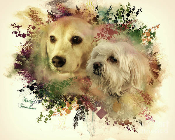 Digital Art - Best Friends by Kathy Tarochione