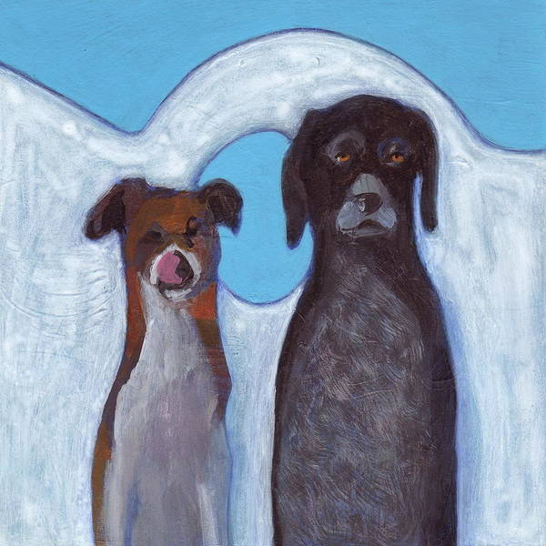 German Pointer Painting - Friends On Vacation by Kazumi Whitemoon