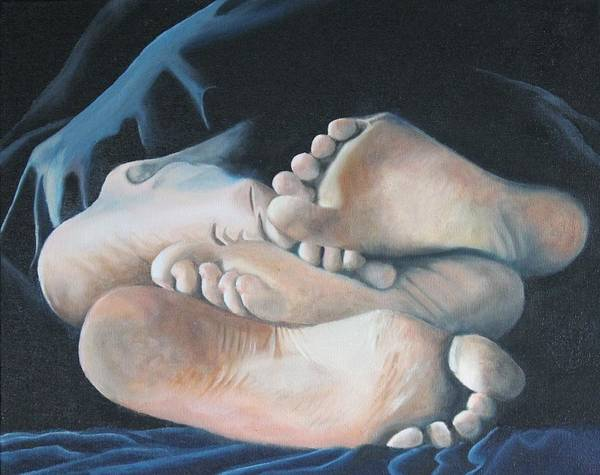 Entangled Painting - Between The Sheets by Teri Vaughn