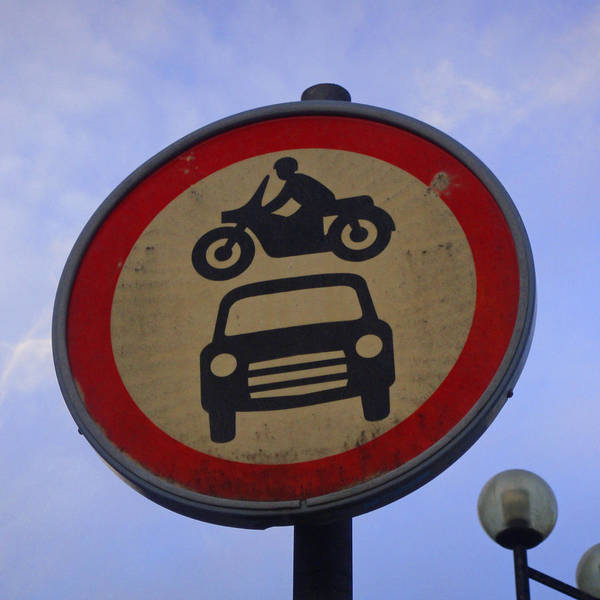 Photograph - Beware - Car Jumping Motorcycles Ahead by Roberto Alamino