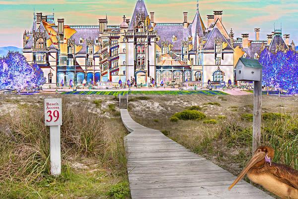 Sand Dunes Digital Art - Beyond The Beach by Betsy Knapp