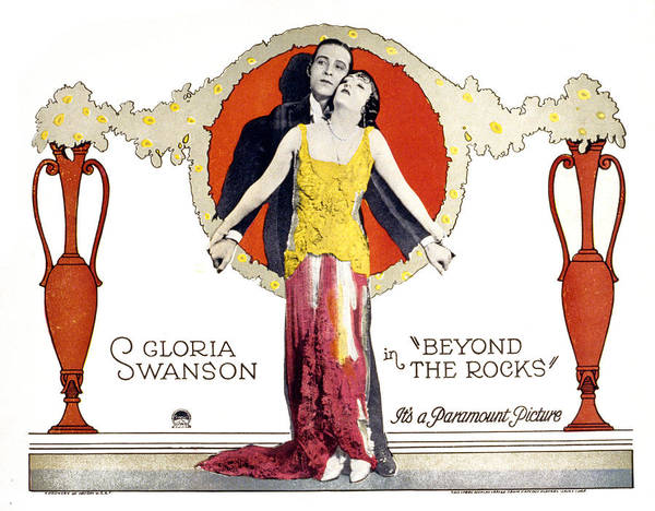 Gloria Swanson Photograph - Beyond The Rocks, Rudolph Valentino by Everett