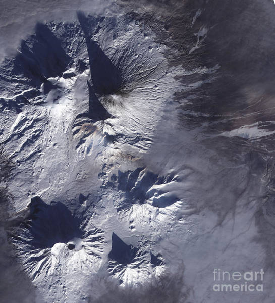 Kamchatka Photograph - Bezymianny Volcano Exhibits A Modest by Stocktrek Images