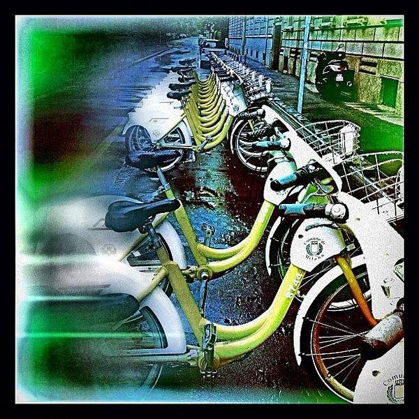 Transport Photograph - Bicycles #instagram #iphone by Roberto Pagani