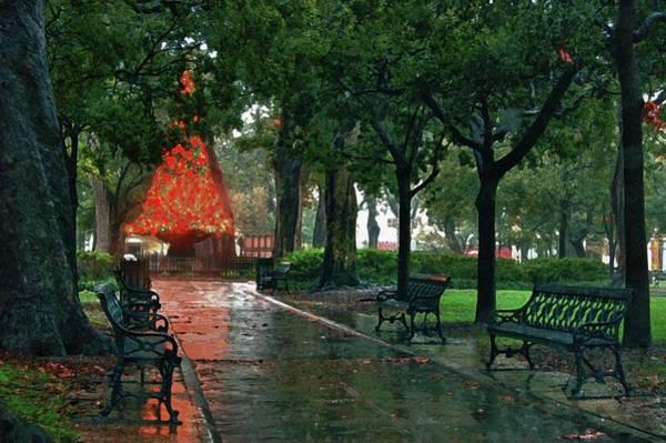 Digital Art - Bienville Square by Michael Thomas