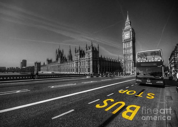Wall Art - Photograph - Big Ben Bus Stop  by Rob Hawkins