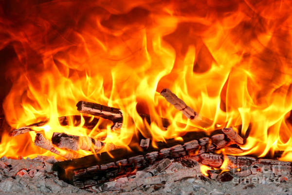 Flammable Wall Art - Photograph - Big Flames 2 by Francisco Leitao