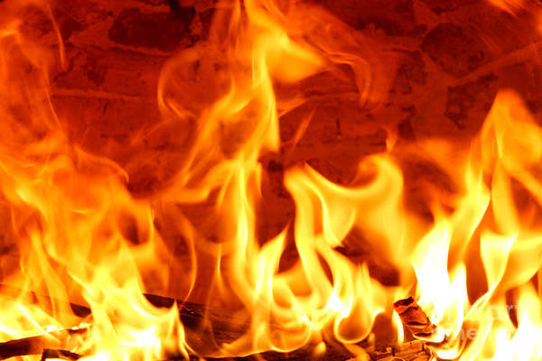 Flammable Wall Art - Photograph - Big Flames by Francisco Leitao