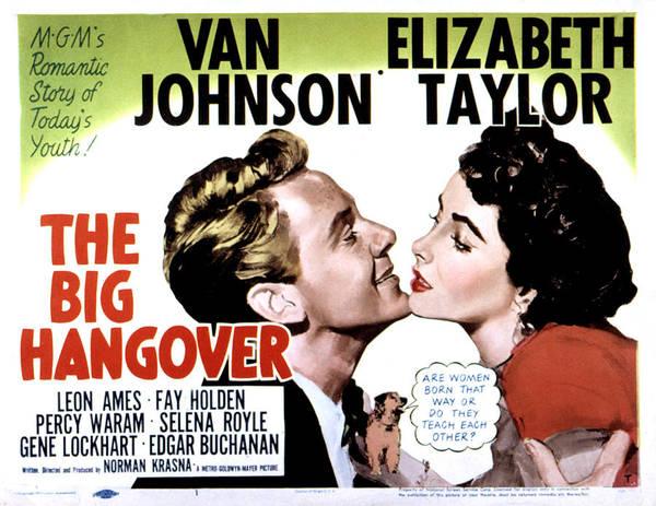 Van Johnson Photograph - Big Hangover, Van Johnson, Elizabeth by Everett