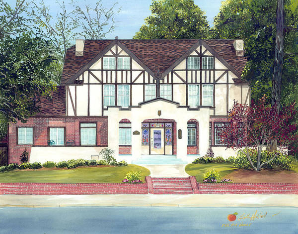 Allman Painting - Big House Museum by Leah Holland