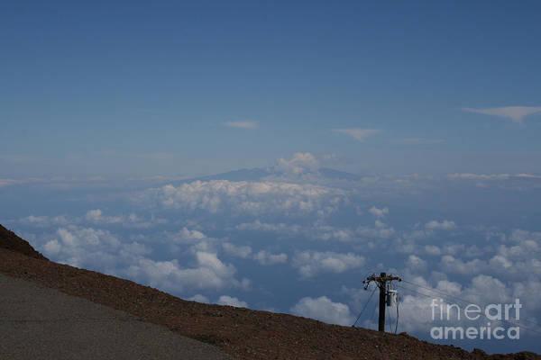 Photograph - Big Island - Island Of Hawaii - View From Haleakala Maui by Sharon Mau
