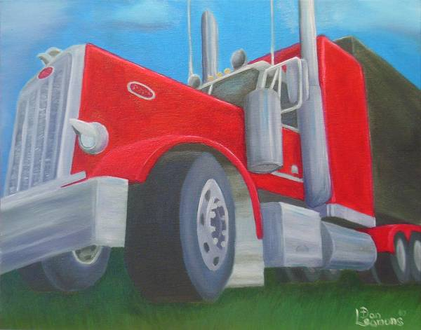 Kenworth Painting - Big Red by Dan Leamons