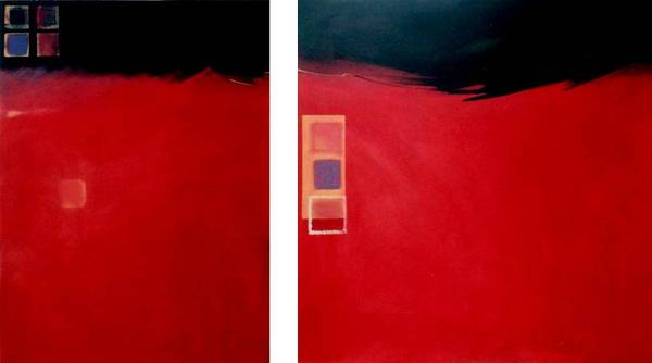 Painting - Big Red Two by Marlene Burns