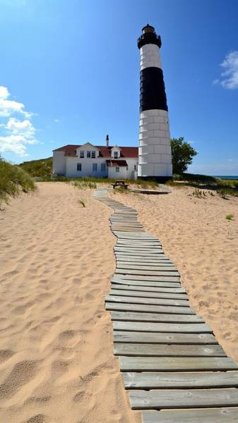 Photograph - Big Sable Lighthouse At Ludington State Park by Michelle Calkins