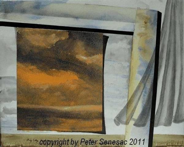 Mixed Media - Big Sky Daydream by Peter Senesac