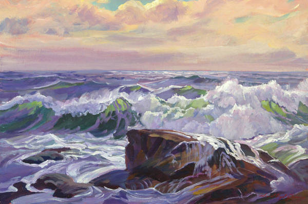 Painting - Big Sur Lavender Sea by David Lloyd Glover