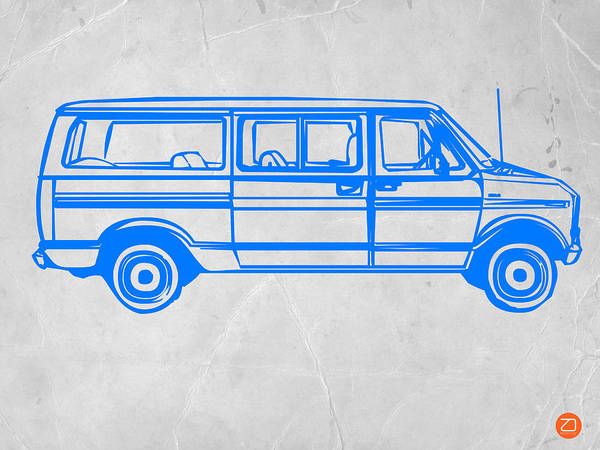 Wall Art - Drawing - Big Van by Naxart Studio