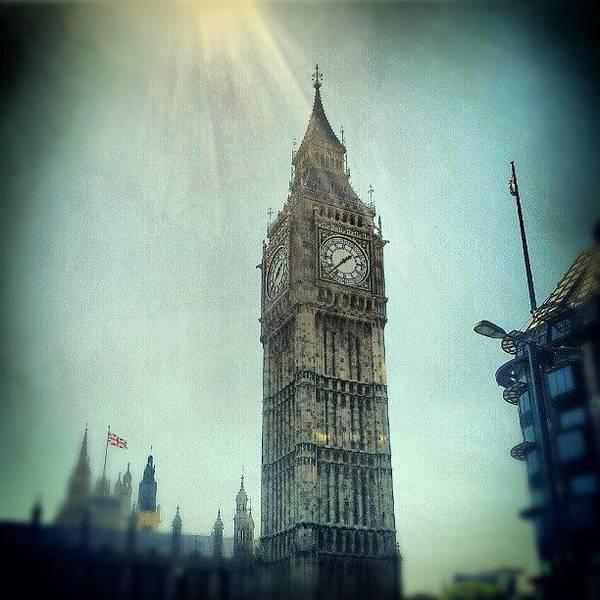 London Wall Art - Photograph - #bigben #uk #england #london #londoneye by Abdelrahman Alawwad