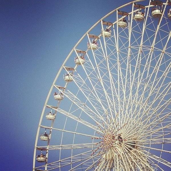 Grace Wall Art - Photograph - #bigwheel #paris #france #blue #sky by Grace Shine