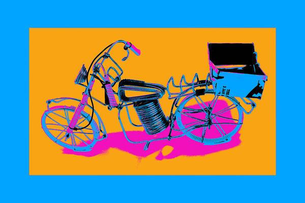Pyrography - Bike-2c by Mauro Celotti