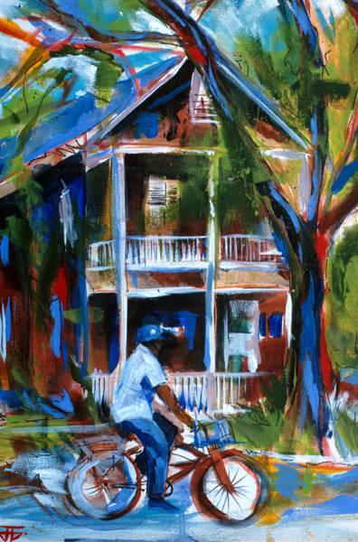 Painting - Bike Man by John Jr Gholson
