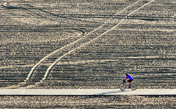 Photograph - Bike Path In Santa Monica by Endre Balogh