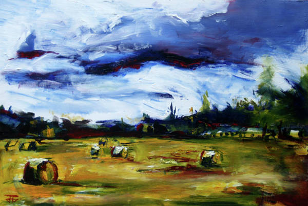 Painting - Bike Ride Hay by John Jr Gholson