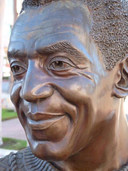 Photograph - Bill Cosby Bust I by Jeff Lowe