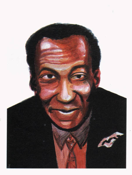 The Cosby Show Painting - Bill Cosby by Emmanuel Baliyanga