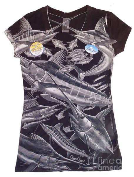 Chen Digital Art - Billfish Ladies Shirt by Carey Chen