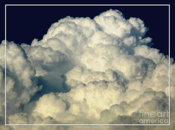Photograph - Billowing Clouds With An Oil Painting Effect by Rose Santuci-Sofranko